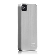Case-Mate iPhone 4S / 4 Barely There Case Brushed Aluminum, Platinum