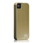 Case-Mate iPhone 4S / 4 Barely There Case Brushed Aluminum, Gold