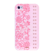 【iPhone4/4S ケース】Elegance (Baby Pink Light Rose)