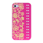 【iPhone4/4S ケース】Elegance (Hot Pink Crystal)