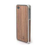 Alloy X Wood Bumper for iPhone 4/4S - Silver×Teak