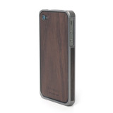 Alloy X Wood Bumper for iPhone 4/4S - Titanium×Ebony