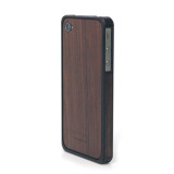 Alloy X Wood Bumper for iPhone 4/4S - Black×Ebony