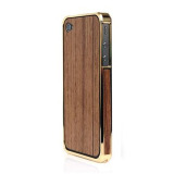 Alloy X Wood Bumper for iPhone 4/4S - 24K×Teak