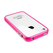 【iPhone4S/4 ケース】Neo Hybrid2S Pastel Series [Fantasia Hot Pink]