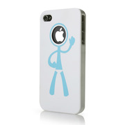 【iPhone4S/4 ケース】icover DESIGN  ホワイト AS-IP4HM-W