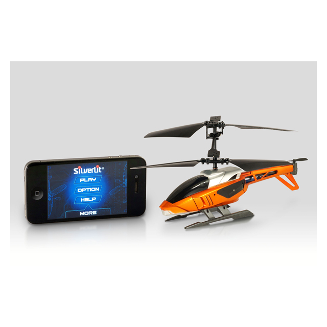 【iPad iPhone iPod】Silverlit Interactive Bluetooth Remote Control Heli オレンジサブ画像