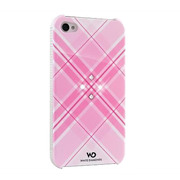 【iPhone4S/4 ケース】Grid Pink