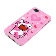 Kawaii Domo-kun iPhone 4S/4 Case 水玉ピンク