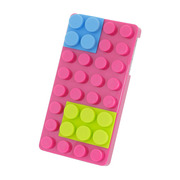 BlockCaseHard for iPhone4/4S(Pink)