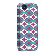 "Case-Mate iPhone 4S / 4 Hybrid Tough Case, ""I Make My Case"" Ovalicious Purple"