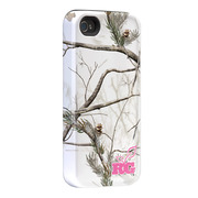 "Case-Mate iPhone 4S / 4 Hybrid Tough Case, ""I Make My Case"" Realtree Camo APS Snow"