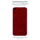 BADSMAKESGOODS レザーカバー for iPhone4+4S(Red)