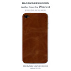 BADSMAKESGOODS レザーカバー for iPhone4+4S(Brown)