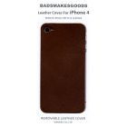 BADSMAKESGOODS レザーカバー for iPhone4+4S(Dark,Brown)