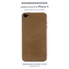BADSMAKESGOODS レザーカバー for iPhone4+4S(Mocha)