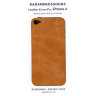 BADSMAKESGOODS レザーカバー for iPhone4+4S(Beige)