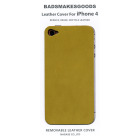 BADSMAKESGOODS レザーカバー for iPhone4+4S(Mint,Green)