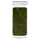 BADSMAKESGOODS レザーカバー for iPhone4+4S(Khaki)