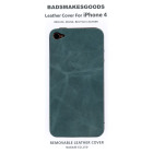 BADSMAKESGOODS レザーカバー for iPhone4+4S(Turquoise)