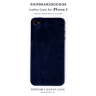 BADSMAKESGOODS レザーカバー for iPhone4+4S(Navy)