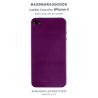 BADSMAKESGOODS レザーカバー for iPhone4+4S(Purple)