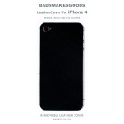 BADSMAKESGOODS レザーカバー for iPhone4+4S(Black)