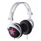 【ヘッドホン】headphones Star-Black/Pink