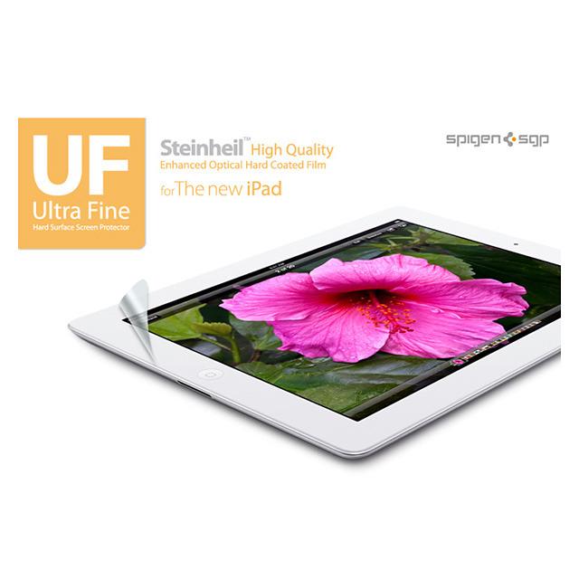 【iPad(第3世代/第4世代) フィルム】SPIGEN SGP The new iPad (第3世代) シュタインハイル UF ウルトラ・ファイン 指紋・反射防止