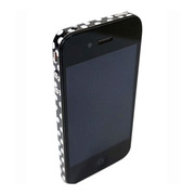 【iPhone4S/4】COLORCTORS Side Skin DOT(BLACK/WHITE)