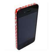 【iPhone4S/4】COLORCTORS Side Skin DOT(RED/BEIGE)