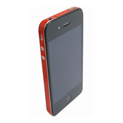 【iPhone4S/4】COLORCTORS Side Skin RED(ラメ)