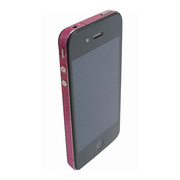 【iPhone4S/4】COLORCTORS Side Skin MAGENTA(ラメ)