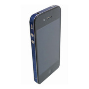 【iPhone4S/4】COLORCTORS Side Skin BLUE(ラメ)