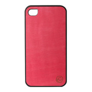 【iPhone4S/4 ケース】Real wood case Vivid Azalea