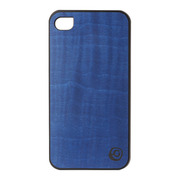 【iPhone4S/4 ケース】Real wood case Vivid Midnight Blue