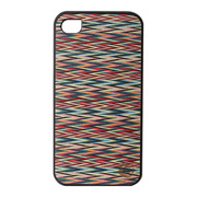 【iPhone4S/4 ケース】Real wood case Caleido Sylvia's Check