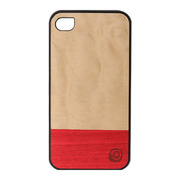 【iPhone4S/4 ケース】Real wood case Harmony Miss Match