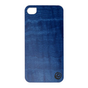 【iPhone4S/4 ケース】Real wood case Vivid Midnight Blue White