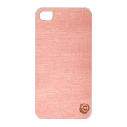 【iPhone4S/4 ケース】Real wood case Vivid Amapa Pink White