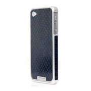 Alloy X Leather Bumper for iPhone 4/4S - Silver