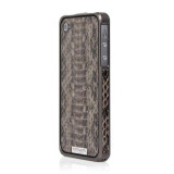 Alloy X Leather Bumper for iPhone 4/4S - Titanium