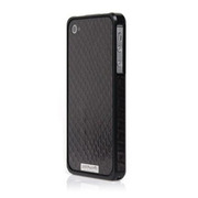Alloy X Leather Bumper for iPhone 4/4S - Black