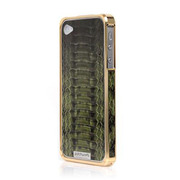 Alloy X Leather Bumper for iPhone 4/4S - 24K