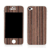 【iPhone4S/4】Naked Nature Collection for iPhone 4/4S - Ebony Thin Stripe