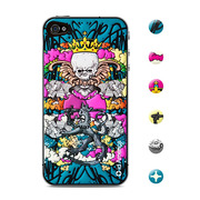 【iPhone4S/4 スキンシール】CUSHI QueenBe...