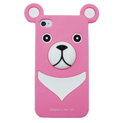【iPhone ケース】iburg iPhone 4S / 4 Full Protection Silicon Bear, Rose Pink
