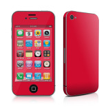 【iPhone4S/4 スキンシール】Decalgirl【Solid State Red】