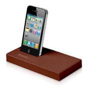 【iPhone iPod】essential TPE nanoblock Universal Dock ブラウン