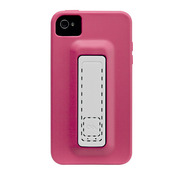 【iPhone ケース】iPhone 4S / 4 Snap Case, Lipstick Pink/White